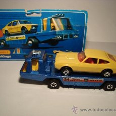 Coches a escala: MACHTBOX SUPER KINGS K-2 TRANSPORTE COCHES,RECOVERY VEHICLE CON FORD CAPRI. Lote 27047032