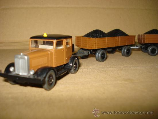 Coches a escala: HANOMAG TRANSPORTE DE CARBON Escala 1/87 *H0* de WIKING Made in Germany . Año 1970-80s - Foto 9 - 30876844