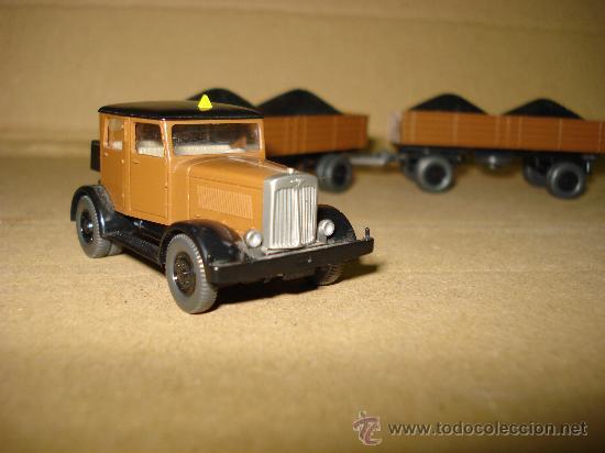 Coches a escala: HANOMAG TRANSPORTE DE CARBON Escala 1/87 *H0* de WIKING Made in Germany . Año 1970-80s - Foto 8 - 30876844