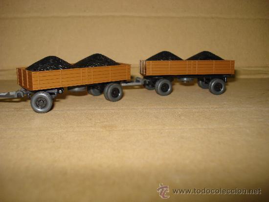 Coches a escala: HANOMAG TRANSPORTE DE CARBON Escala 1/87 *H0* de WIKING Made in Germany . Año 1970-80s - Foto 4 - 30876844