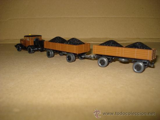 Coches a escala: HANOMAG TRANSPORTE DE CARBON Escala 1/87 *H0* de WIKING Made in Germany . Año 1970-80s - Foto 3 - 30876844