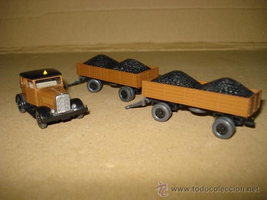 Coches a escala: HANOMAG TRANSPORTE DE CARBON Escala 1/87 *H0* de WIKING Made in Germany . Año 1970-80s - Foto 5 - 30876844