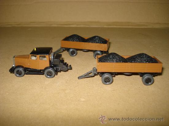 Coches a escala: HANOMAG TRANSPORTE DE CARBON Escala 1/87 *H0* de WIKING Made in Germany . Año 1970-80s - Foto 6 - 30876844
