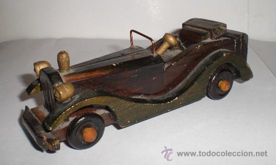 Coche de juguete antiguo madera comprar coches en - Juguetes antiguos de madera ...