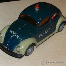 Coches a escala: (M) COCHE FRIGCION POLICIA WOLSVAGEN , COCHE DE PLASTICO SIN MARCA, 22 X 9 X 9 CM, . Lote 34721854