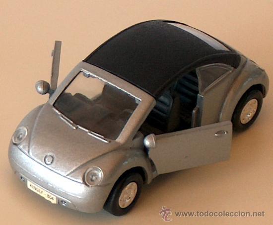 VOLKSWAGEN NEW BEETLE CABRIO PLATA 11,30 CM VW ESCARABAJO KÄFER DESCAPOTABLE (Juguetes - Coches a Escala Otras Escalas )