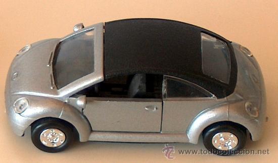 Coches a escala: VOLKSWAGEN NEW BEETLE CABRIO PLATA 11,30 CM VW ESCARABAJO KÄFER DESCAPOTABLE - Foto 2 - 36480940
