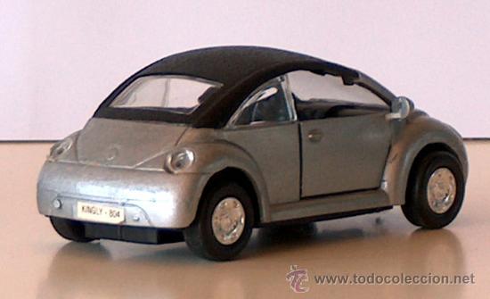 Coches a escala: VOLKSWAGEN NEW BEETLE CABRIO PLATA 11,30 CM VW ESCARABAJO KÄFER DESCAPOTABLE - Foto 3 - 36480940