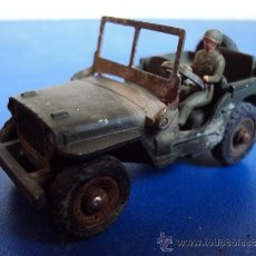 Coches a escala: (JU-65)DINKY TOYS JEEP HOTCHHKISS WILLYS Nº 80B 1958 MECCANO PSR1. Lote 37602639