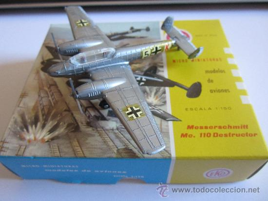 Coches a escala: EKO AVION, MESSERSCHMITT ME. 110 DESTRUCTOR, Nº 5004, ESCALA 1:150 - Foto 2 - 38076471