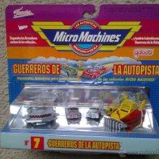 Coches a escala: MICRO MACHINES MICROMACHINES GUERREROS DE LA AUTOPISTA Nº7 FAMOSA BLISTER ART 6430. Lote 39891918