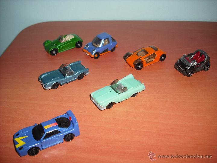 Coches a escala: Coches - Salían en los Huevos Kinder Sorpresa - Lote de 7 coches - PVC - De plástico - Foto 2 - 40308775