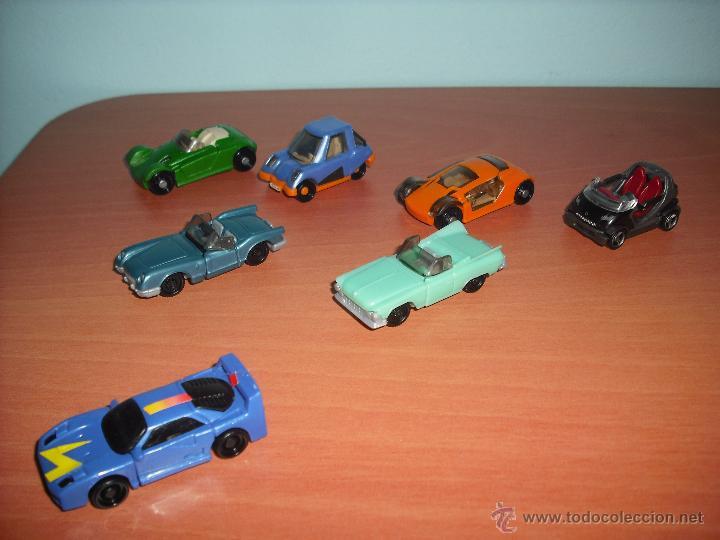 Coches a escala: Coches - Salían en los Huevos Kinder Sorpresa - Lote de 7 coches - PVC - De plástico - Foto 3 - 40308775