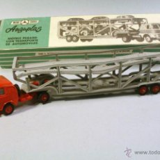 Coches a escala: MINI CARS MINICARS ANGUPLAS. MOTRIZ PEGASO CON TRANSPORTE DE AUTOMÓVILES.. Lote 40661670