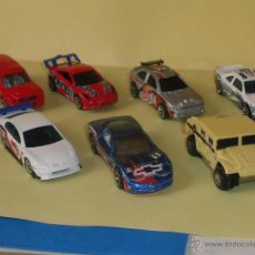 Coches a escala: HOTWHEELS! HOT WHEELS DIE-CAST - LOTE 7X COCHES. Lote 40688918