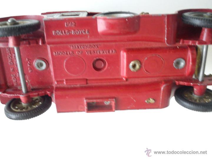 Coches a escala: ANTIGUO COCHE DE HIERRO AÑOS 50/60 SELLADO MACHBOX 1912 ROLLS.ROYCE MAD IN ENGLND BY LESNEY N. Y. 7 - Foto 6 - 42113322