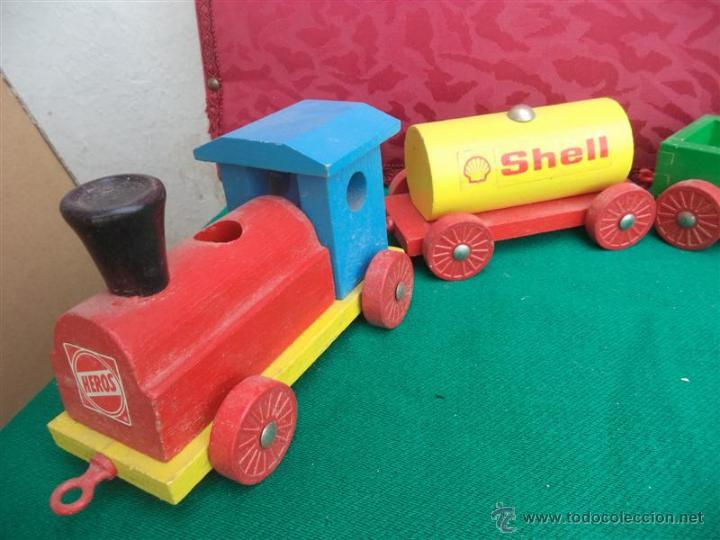 Coches a escala: tren de madera publicidad - Foto 2 - 43424017