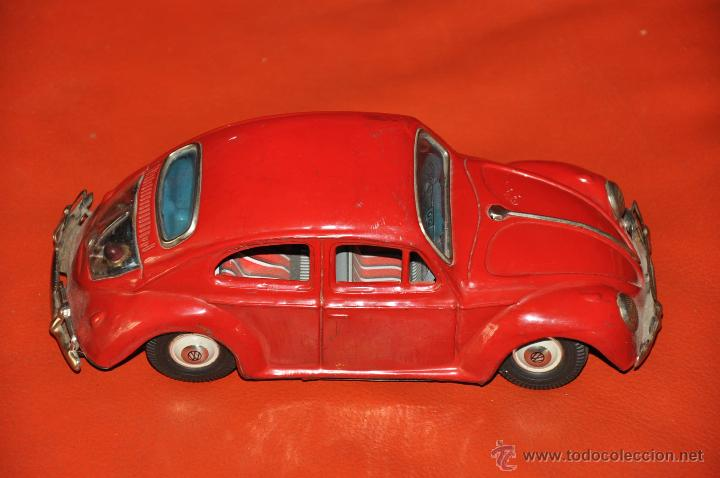 Coches a escala: tin toy volkswagen made in japan sign of quality coche de 1960 aprox a friccion - Foto 5 - 44075421