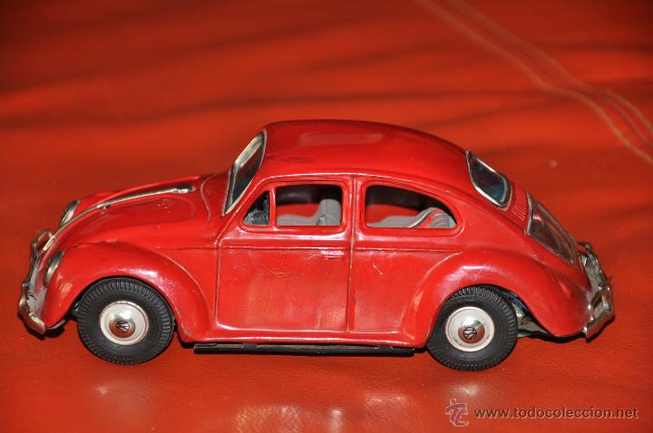 Coches a escala: tin toy volkswagen made in japan sign of quality coche de 1960 aprox a friccion - Foto 8 - 44075421