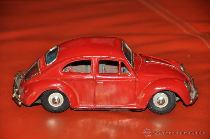 Coches a escala: tin toy volkswagen made in japan sign of quality coche de 1960 aprox a friccion - Foto 9 - 44075421