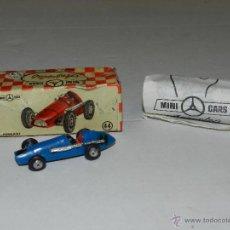 Coches a escala: (M) MINI CARS NUM 44 FERRARI AZUL - AU NGUPLAS , MUY BUEN ESTADO, CON CAJA Y HOJA PUBLICITARIA. Lote 45708447