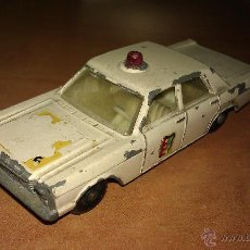 Coches a escala: ANTIGUO COCHE FORD GALAXIE POLICE 55/59 BY LESNEY - MATCHBOX SERIES - AÑOS 60 - . Lote 46550534
