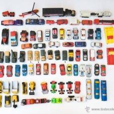 Coches a escala: COLECCION 78 MINIATURAS DE COCHES, CAMIONES, VEHICULOS MILITARES, HELICOPTERO, ETC, AÑOS 70, 80, 90. Lote 46873389