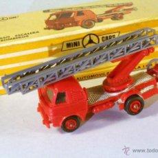 Coches a escala: MINI CARS - MINICARS ANGUPLAS. CAMIÓN PEGASO ESCALERA BOMBEROS.. Lote 47804214