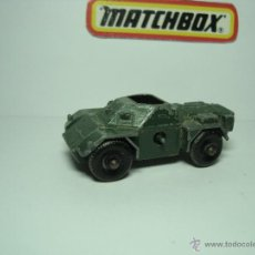 Coches a escala: MATCHBOX LESNEY SERIES Nº61 FERRET SCOUT CAR TANQUE AÑOS 60 1,64. Lote 31298316