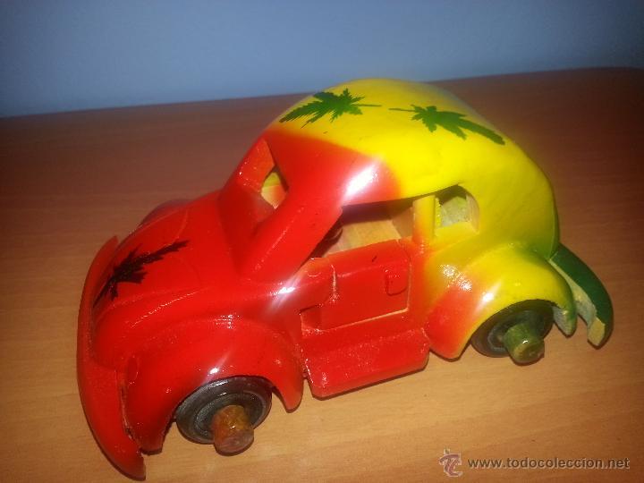 Madera Volkswagen De En Escarabajo Coche Lacado Colores Vivos Beetle ynw80NvmO