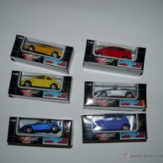 Coches a escala: DICKIE SIMBA MAJORETTE - LOTE 6X COCHES - DIE-CAST -ESCALA 1.64 - 3 INCHES. Lote 50373847