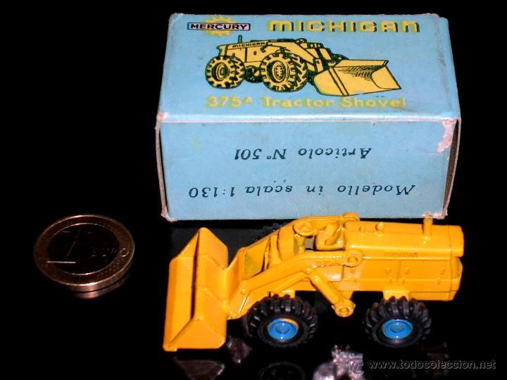Coches a escala: Michigan Tractor Shovel 375A art. 501, metal esc. 1/130, Mercury Italy, original años 50. Con caja - Foto 2 - 50495040