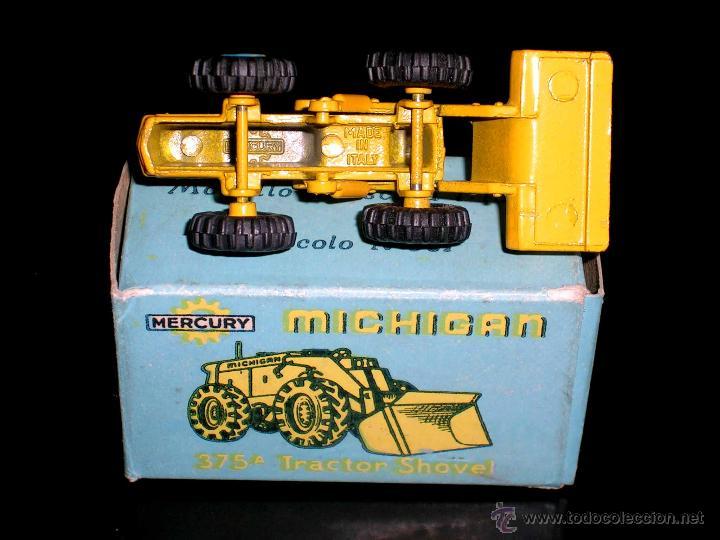 Coches a escala: Michigan Tractor Shovel 375A art. 501, metal esc. 1/130, Mercury Italy, original años 50. Con caja - Foto 5 - 50495040