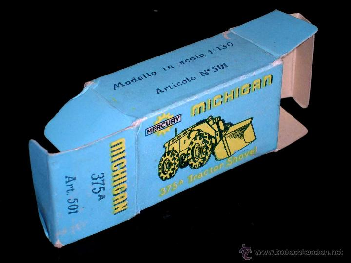 Coches a escala: Michigan Tractor Shovel 375A art. 501, metal esc. 1/130, Mercury Italy, original años 50. Con caja - Foto 6 - 50495040