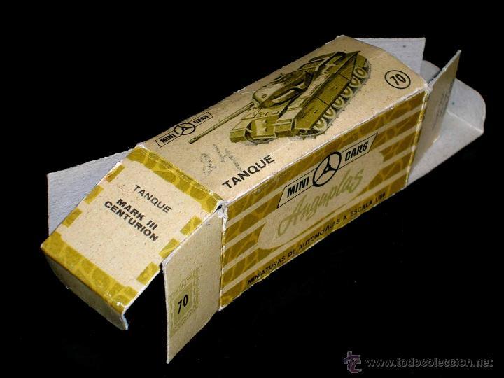 CAJA VACÍA EMPTY BOX TANQUE CENTURIÓN Nº 70, ESC. 1/86 H0, ANGUPLAS MINI-CARS. ORIGINAL AÑO 1961. (Juguetes - Coches a Escala Otras Escalas )