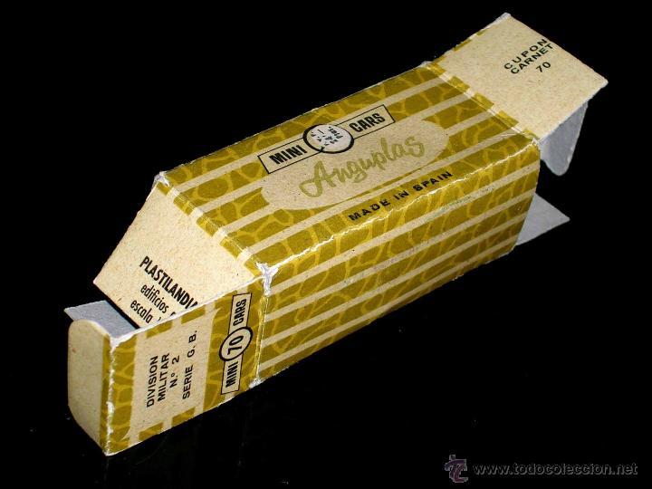 Coches a escala: Caja vacía empty box Tanque Centurión nº 70, esc. 1/86 H0, Anguplas Mini-Cars. Original año 1961. - Foto 2 - 51441188