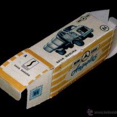 Coches a escala: CAJA VACÍA EMPTY BOX CAMIÓN SAVA BASURAS Nº 84, ESC. 1/86 H0, ANGUPLAS MINI-CARS. ORIGINAL AÑO 1961.. Lote 51441913