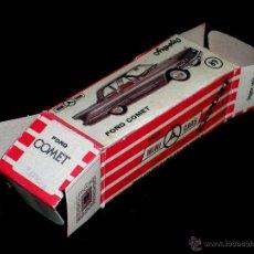 Coches a escala: CAJA VACÍA EMPTY BOX FORD COMET Nº 89, ESC. 1/86 H0, ANGUPLAS MINI-CARS. ORIGINAL AÑO 1962.. Lote 51519844