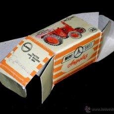 Coches a escala: CAJA VACÍA EMPTY BOX TRACTOR LANZ Nº 25, ESC. 1/86 H0, ANGUPLAS MINI-CARS. ORIGINAL AÑO 1959.. Lote 51519940