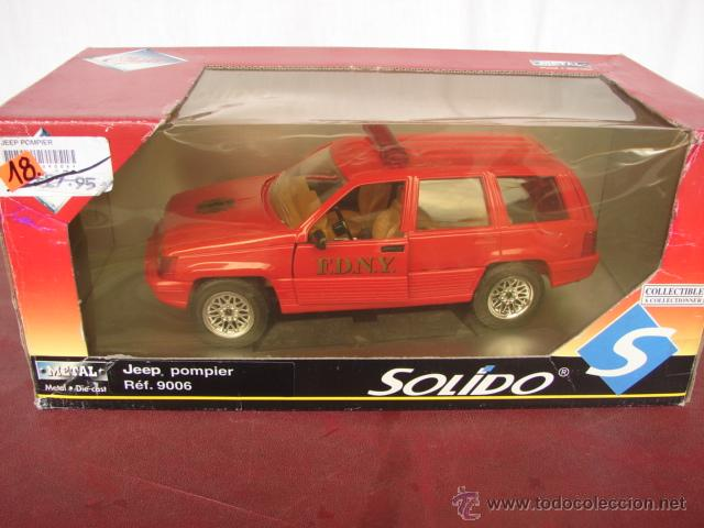 Coches a escala: JEEP POMPIERS - SOLIDO - SERIE CLUB - Foto 1 - 52428564