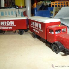 Coches a escala: CAMIÓN BÜSSING 5000 ESC.H0.WIKING GERMANY.UNION TRANSPORT.DOBLE CUERPO.. Lote 53188050