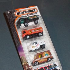 Coches a escala: SET / PACK 5 COCHES CITY WORKS - MATCHBOX 1/64. Lote 53384382