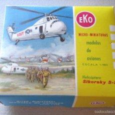 Coches a escala: EKO HELICÓPTERO SIKORSKY S-58 ESCALA 1:150. Lote 55913532