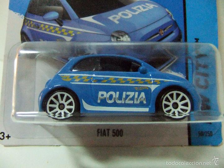 Fiat 500 Polizia Policia Italia Hot Wheels Ma Sold Through