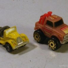 Coches a escala: 2 COCHECITOS ROAD CHAMPS Y SUNRISE. 3CM. Lote 57503315