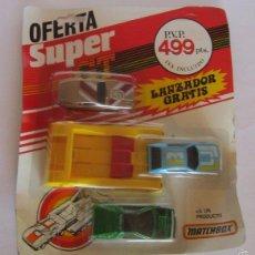 Coches a escala: COCHES MATCHBOX SUPER GT CON LANZADOR, EN BLISTER. CC. Lote 57567227