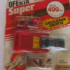 Coches a escala: COCHES MATCHBOX SUPER GT CON LANZADOR, EN BLISTER. CC. Lote 57567252