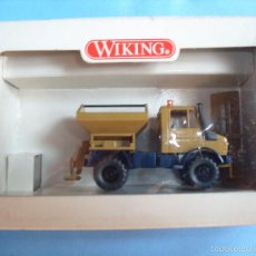 Coches a escala: WIKING 1:87, ESCALA H0,CAMION QUITANIEVE, MADE IN GERMAN. Lote 57793716