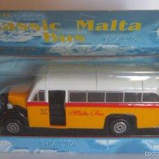 Coches a escala: AUTOBUS CLASSIC MALTA BUS, METALICO, EN CAJA. CC. Lote 58123351