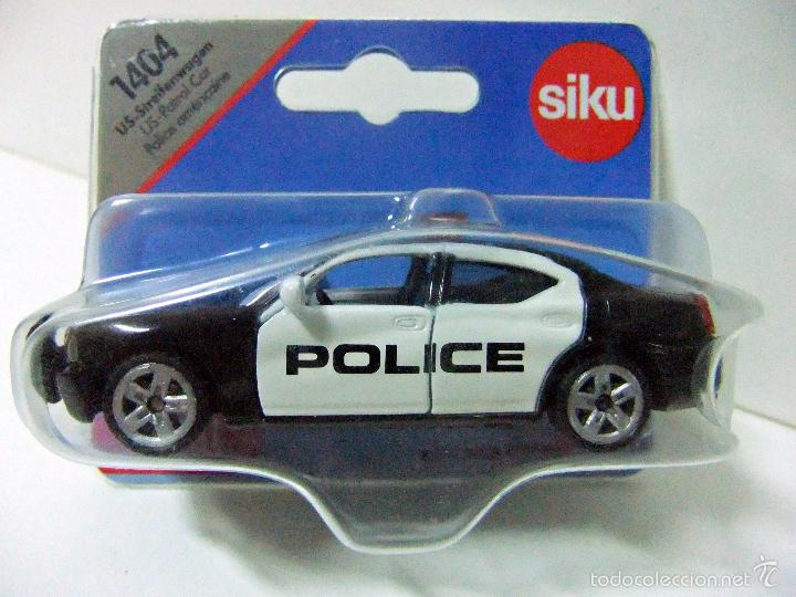 Siku Diecast Metal Mini Car #1404 US Patrol Car Dodge Charger Police MIB